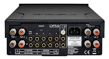 Cyrus Audio, Cyrus One amplifier, rear panel, back panel, bluetooth amplifier, the little audio company,