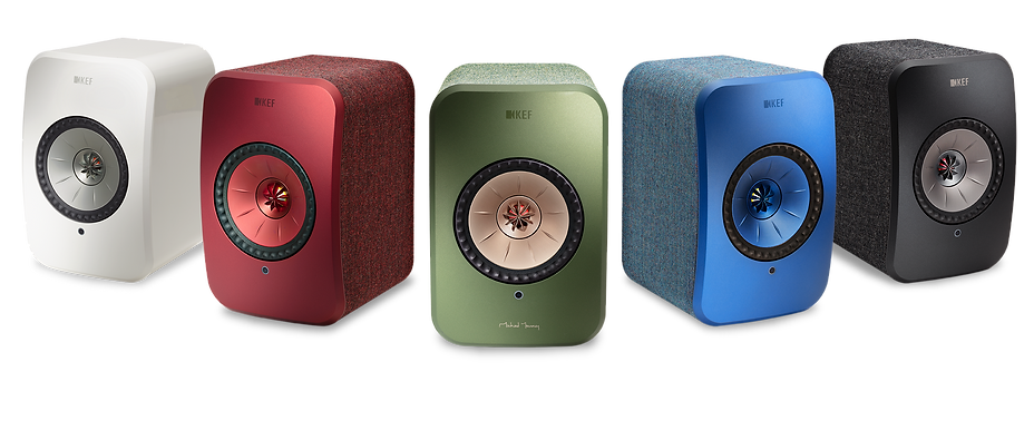 finishes for the KEF LSX wireless speakers,