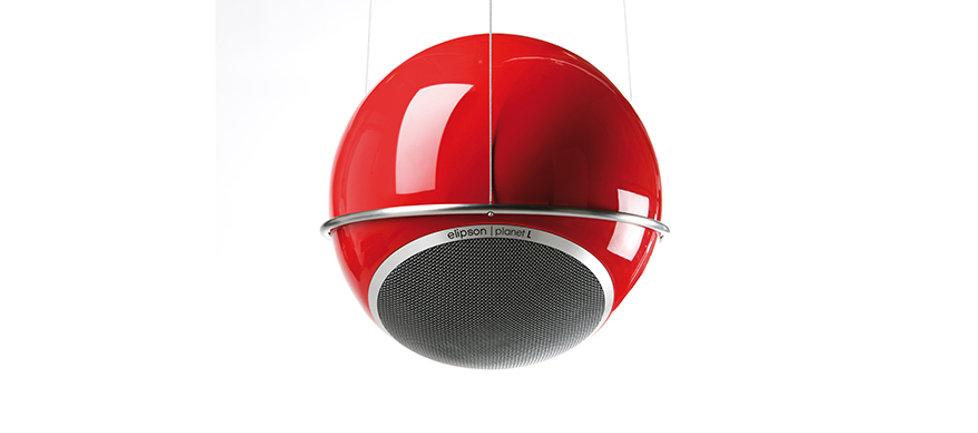 Elipson Planet loudspeakers, Planet M speakers, Planet L speakers, Elipson speakers, ceiling mount speakers, Elipson ceiling bracket, home theatre speakers, home cinema speakers, speakers for bars, speakers for restaurants, compact speakers, round speakers, spherical speakers, the little audio company,