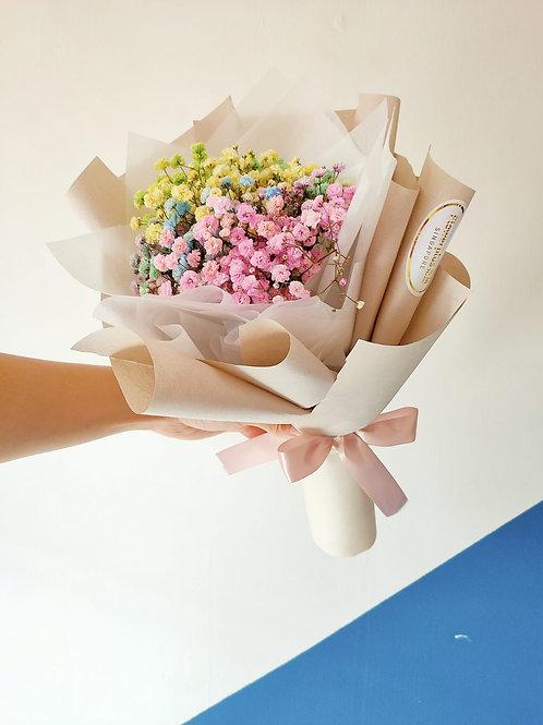 Daily Bouquet - RAINBOW BABY BREATH BOUQUET