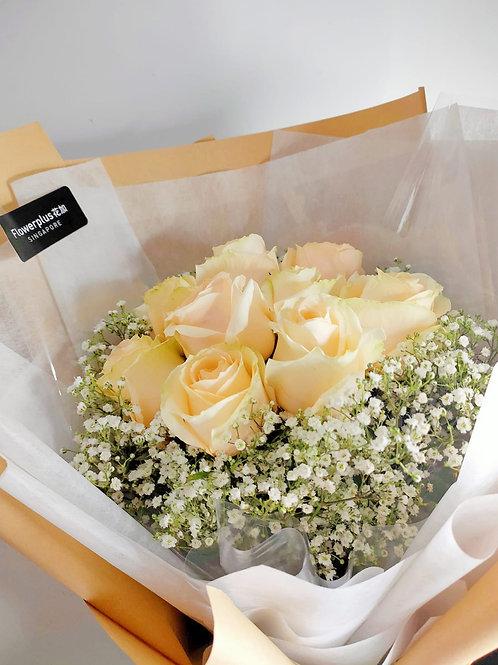 Daily Bouquet - CHAMPAGNE ROSE BOUQUET