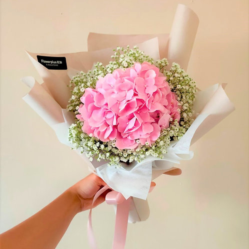 Daily Bouquet - SWEET PINK HYDRNGEA BOUQUET