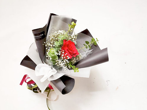 Daily Bouquet - SINGLE STALK ROSE BLOOMS BOUQUET