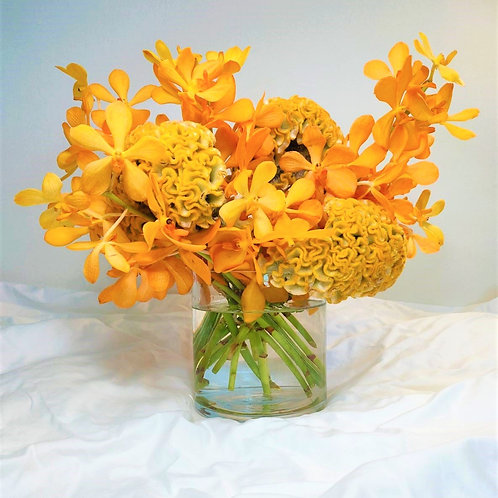 Floral in Glass - Golden Autumn