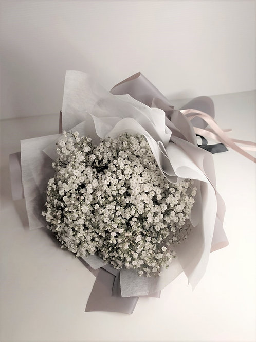 Daily Bouquet - WHITE BABY BREATH BOUQUET
