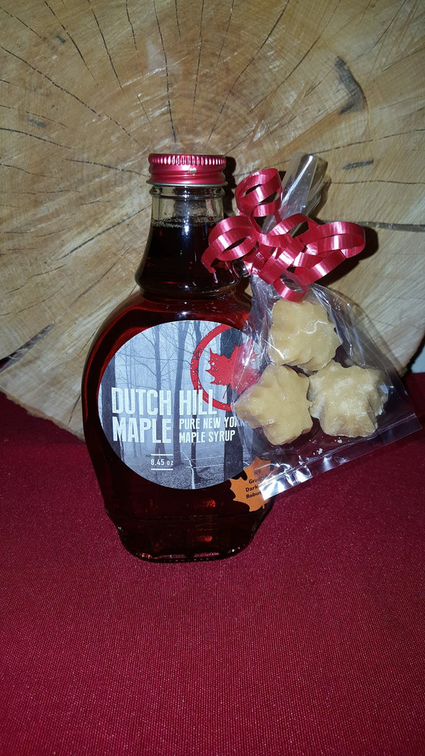 maple syrup with maple candy gift