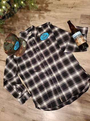 Turquoise Barn Patch Flannel