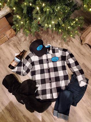 Turquoise Barn Patch Fleece Jacket