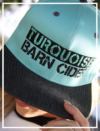 Turquoise/Black Denim Snapback