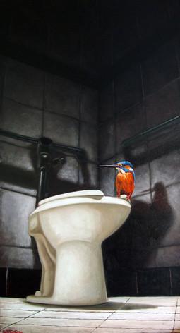 Kingfisher on Throne