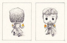 John Constantine Funko, Back and Front