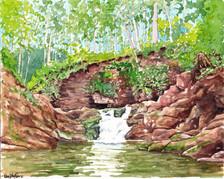 The Falls At Van Campens Glen