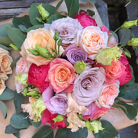 Meols Hall Wedding, Coral Wedding Flowers