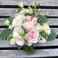 Blush pink ivory rose wedding bridal bouquet Hilltop Country House