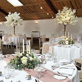 Blossom tree wedding at Owen House Wedding Barn, Cheshire