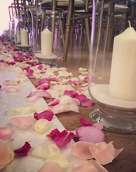 Wedding Aisle Rose Petals