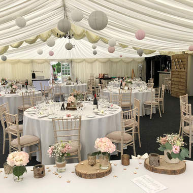 Hilltop Country House wedding flowers lanterns Cheshire