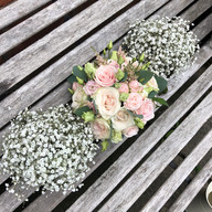 Wedding flowers at Hilltop Country House, Cheshire