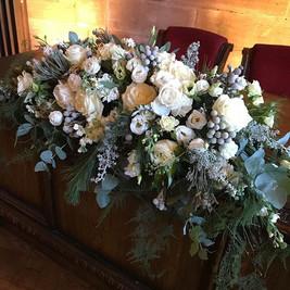 Today's beautiful top table arrangement