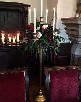 Gold floor standing candelabras
