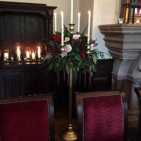 Floor standing gold candelabras