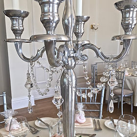 Crystal strings for candelabra