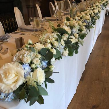 Peckforton Castle Top Table Flowers
