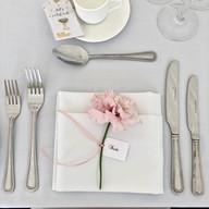 Flower wedding place setting by Tamaryn's Treasures