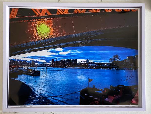 Title: Under Chermhorn Railway Bridge. Size: 17x13 inches