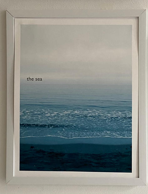 Title: The Sea. Size 11x14 inches