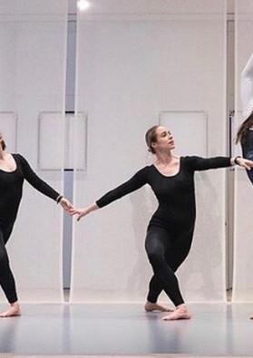 "Photo from Whitney Museum ""Transmissions"" by Nick Mauss Dancers in photo: Matilda Sakamoto Alexandra Albrecht Kristina Bermudez Burr Johnson"