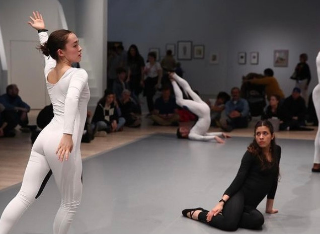 "Photo from Whitney Museum ""Transmissions"" by Nick Mauss Dancers in photo: Matilda Sakamoto Quentin Stuckey Kristina Bermudez Forrest Hersey"