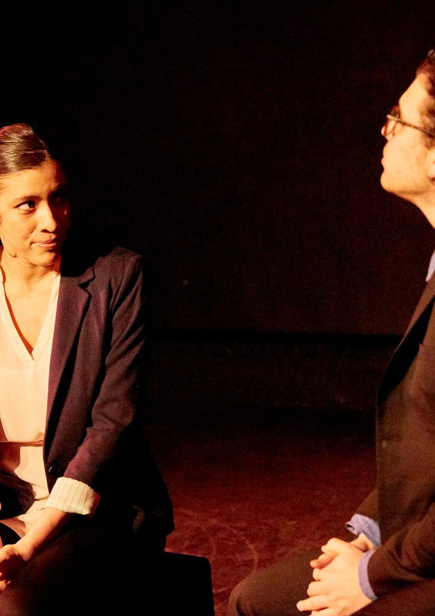 """Photo from """"Bully to Bully: Artists Against Hate Role: Lizette Actors: Kristina Bermudez Evan Crommett"""