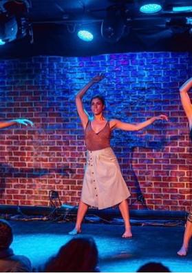 """QUIET"" at The Iridium Dancers: Lilly Balch, Kristina Bermudez, Morgan Bryant"