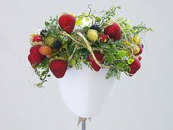 Strawberry crown headpiece