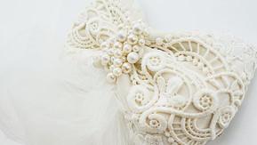 Custom made headpiece for a bride.