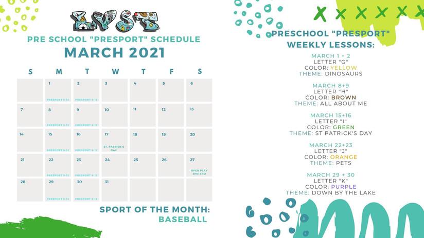 March Calendar LVST
