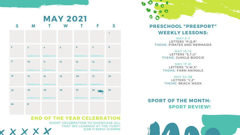 May Calendar LVST