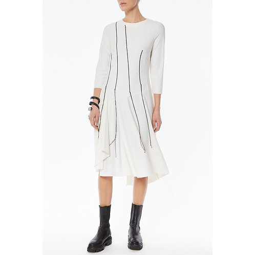 Midi dress with embroider