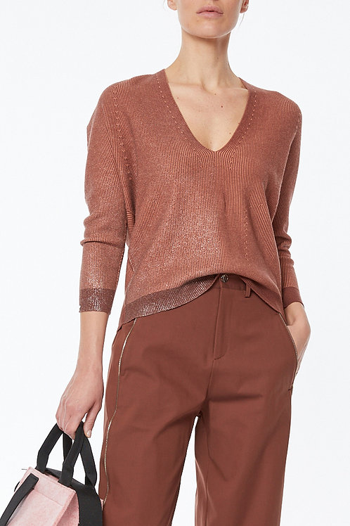 OVERSIZED KNIT SEAMLESS KNIT IN TWO-TONE