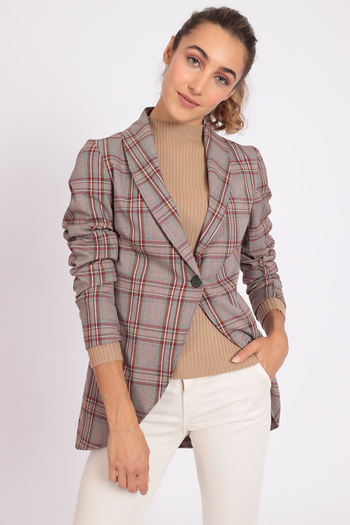 CLASSIC REVERSED JACKET IN CHECK PATTERN
