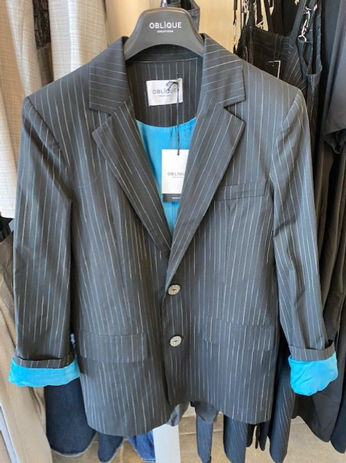Blazer with blue lining