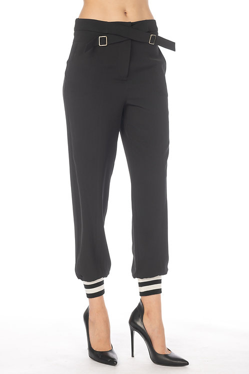 Pant with elastic bottom