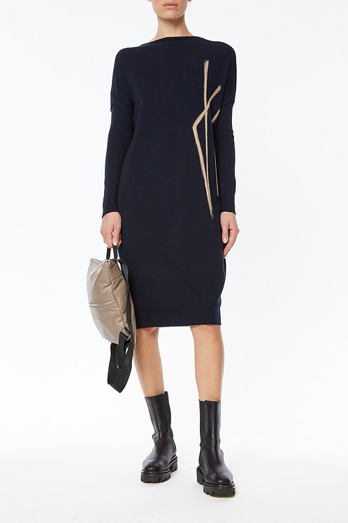 KNITTED DRESS IN STRETCH POLY-VISCOSE