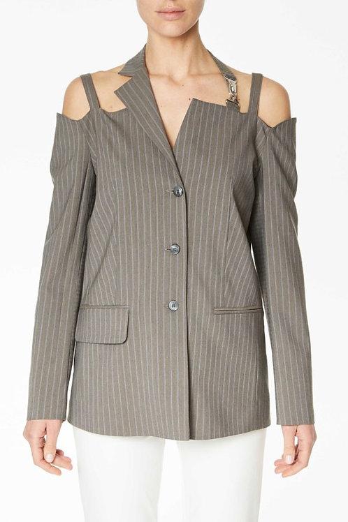 JACKET WITH BARE SHOULDERS