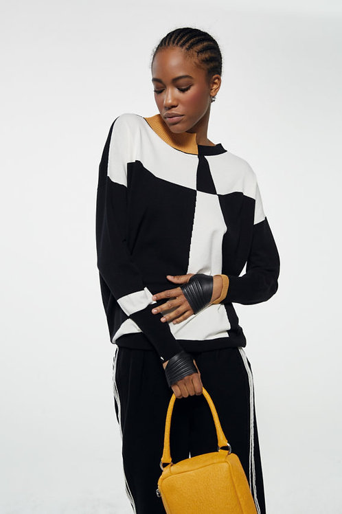 KNITTED KNIT IN STRETCH POLY-VISCOSE