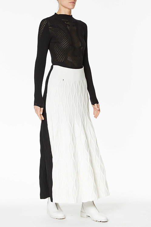 Long Knitted skirt bicolor