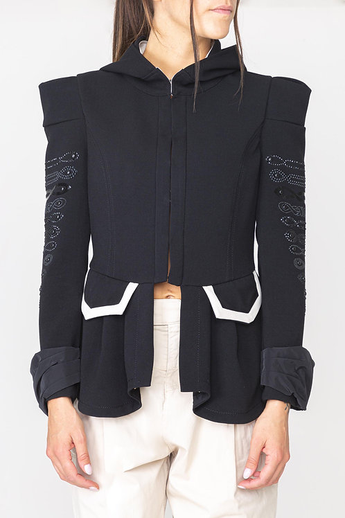 Black couture jacket with zip