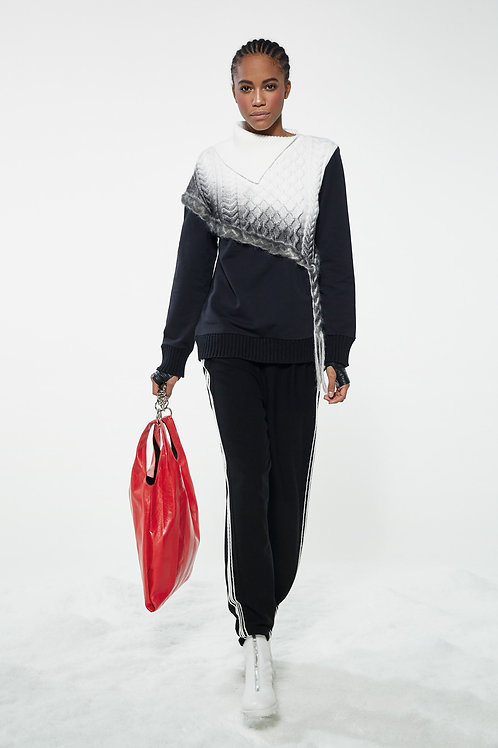 COTTON SWEATSHIRT AND KNITTED FABRIC