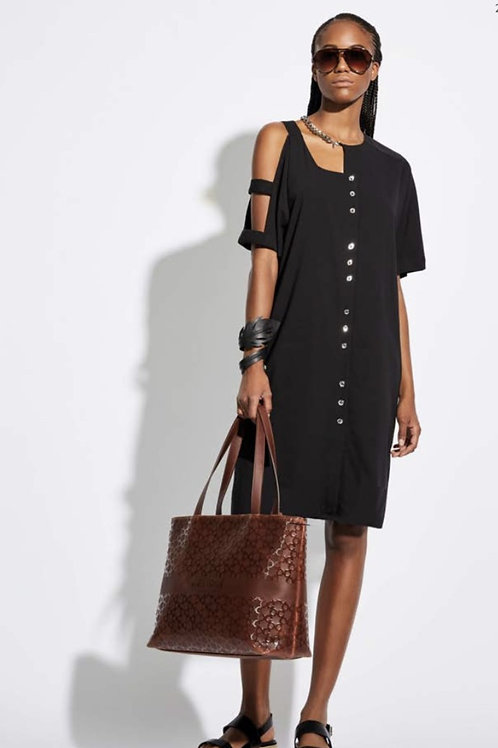 Dress with silver chain